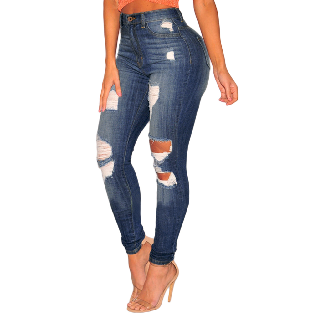 393fe375d4 Denim Ripped High Waist Skinny Jeans Women - Buy Skinny Jeans Women ...