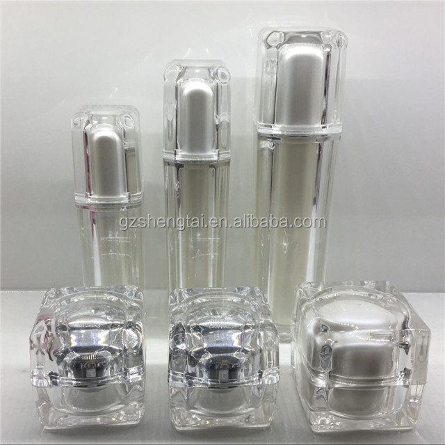 New Double layers color customizable luxurious high quality various acrylic jar and bottle cosmetics container