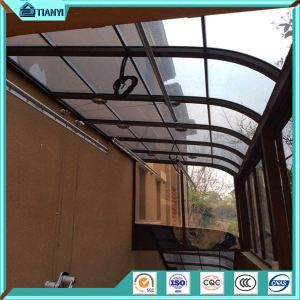New Fashion Curved Roof Glass Green Home Sun Rain Polycarbonate Awning Price Malaysia