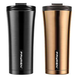 fayren double wall tumbler portable vacuum thermal insulated stainless steel coffee thermos travel mug