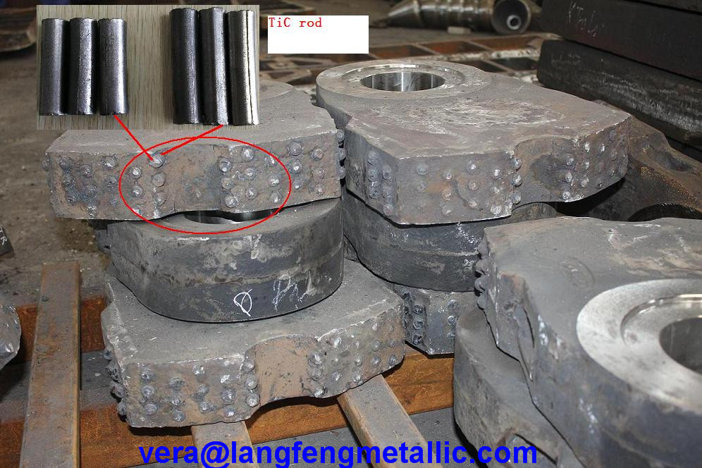Tic Ceramic Inserts Suitable For Manganese Steel Hammers