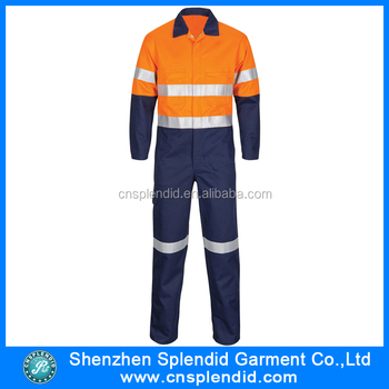 Custom Cheap Work Coverall Reflective Mining Uniforms