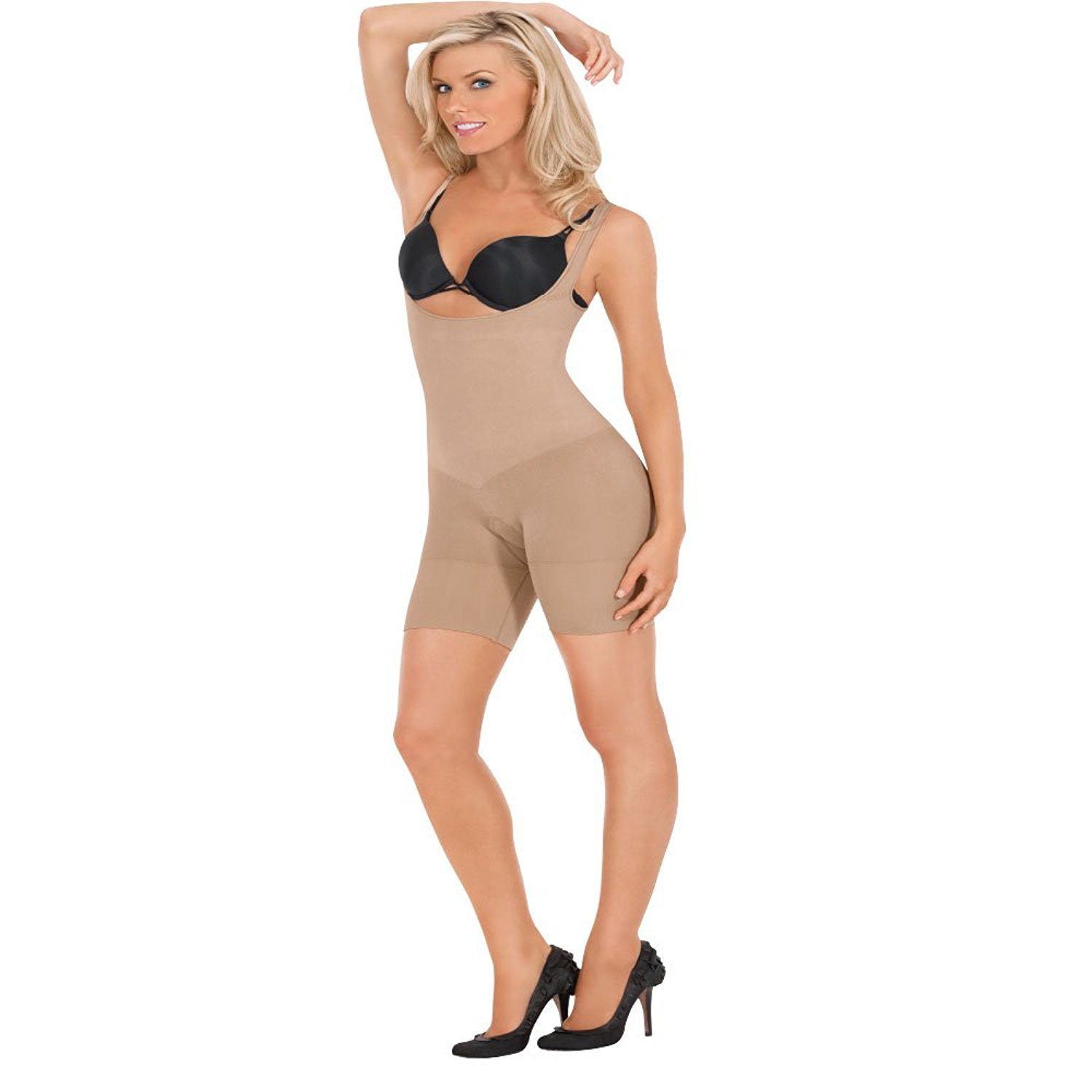 5c72ad5256 Get Quotations · Julie France Ladies Frontless Body Shaper JFL01 -NUDE L