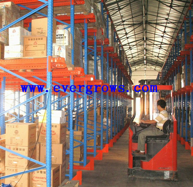 warehouse roll-formed drive-in racking deep lane storage rack logical Pallet systems FIFO factory supplier