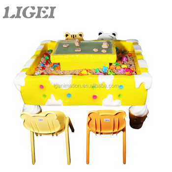 Wholesale DIY Multi Players Fiberglass Colorful Game Machine Magic Sand Art  Playing Table For Children