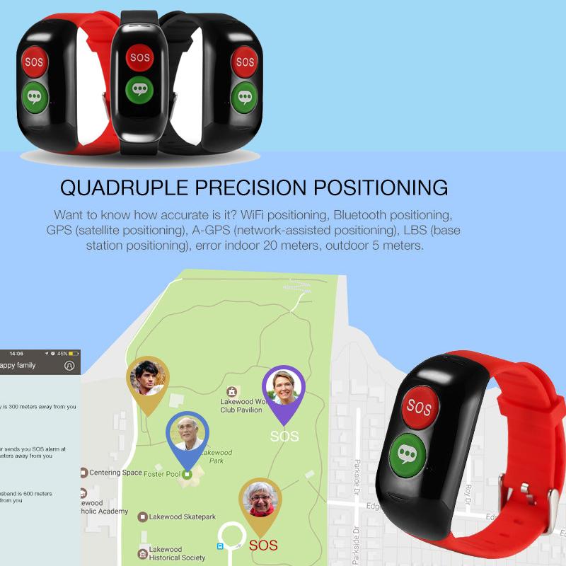 Bluetooth Sos On Wristband Mdeical Alarm Bracelet Product Alibaba