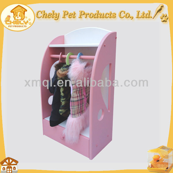 Cheap New Comming Pink Color Pet Closet Made of Wood Pet Apparel & Accessories