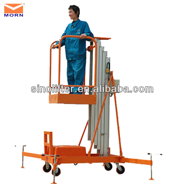 alumium hydraulic vertical lifts/used aerial work platform