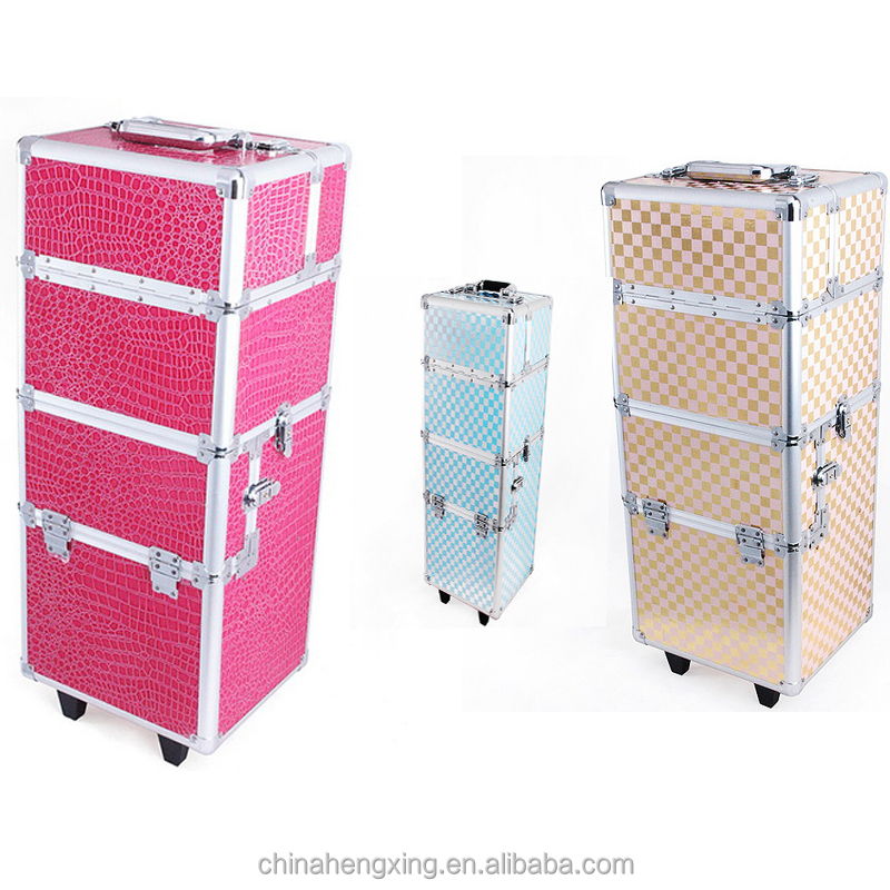 New arrival 2017 fashion Hairdress Trolley Case professional salon nail beauty trolley case