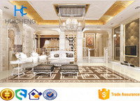 600*600mm yellow cream commercial crystal vitrified floor tile