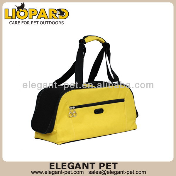 Fashionable hot selling portable yellow pet dog carrier