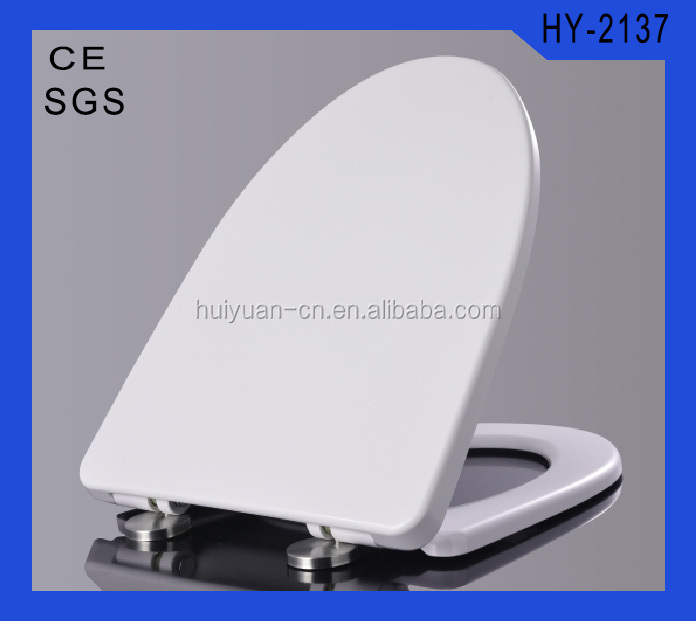 HY-2137 sanitary wares square urea stainless steel hinge two button slime toilet seat