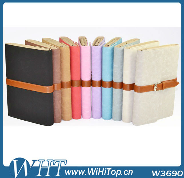 For iPad 2/3/4 PU Leather Stand Case Cover With Business Belt Design Skin.Belt Case For iPad.