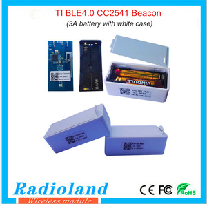 New design TI BLE4.0 CC2541 beacon with 3A batter white case