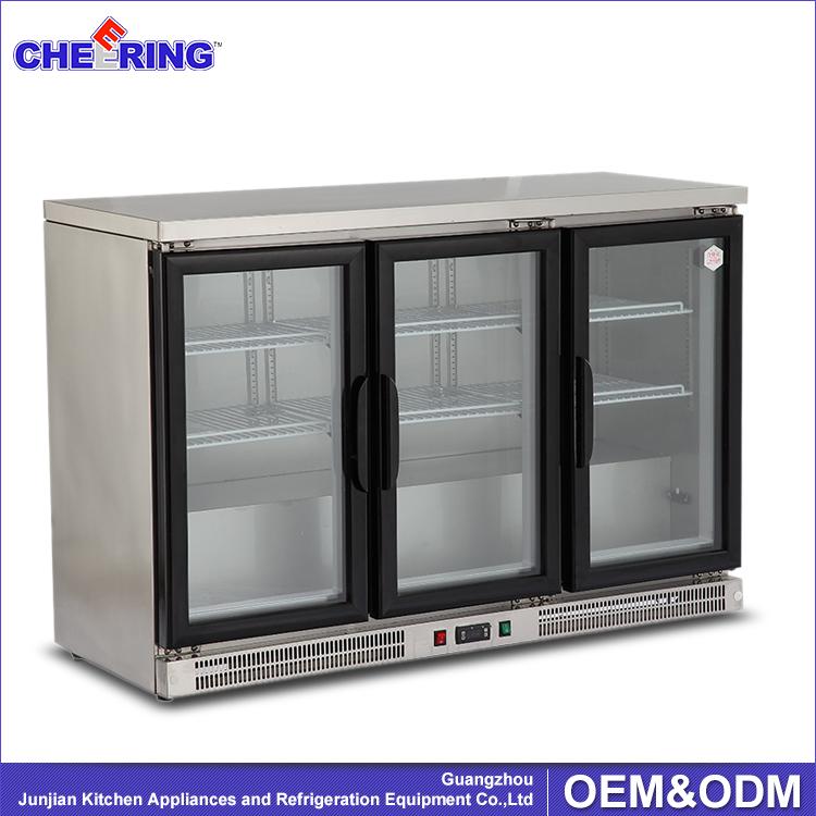 330l Beer Bottle Refrigerator For Bar3 Door Beer Coolercountertop