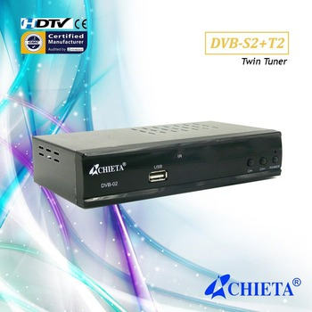 New Combo HD DVB-S2 + T2 Satellite Receiver TV Box
