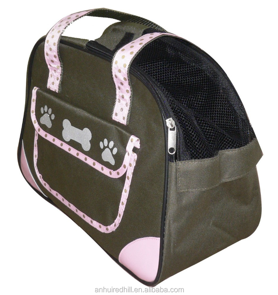 fabric army green shopping dog carrier