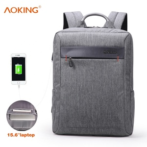 Aoking men bags office sac a dos backpack zaino waterproof usb charging  business laptop backpack 15.6 2cbf68aa9cb39