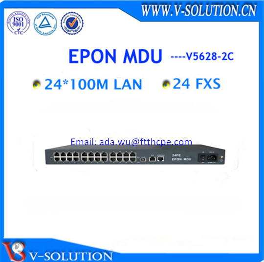 Professional 24FE and 24POTS EPON MDU analog phone to VoIP equipment EPON ONU for ISP