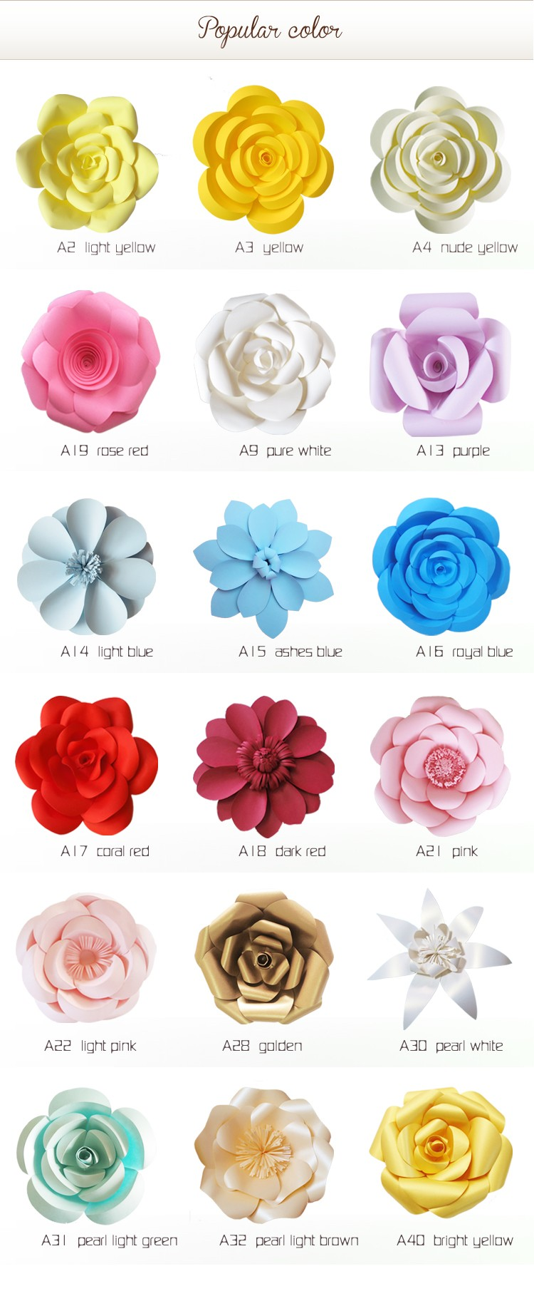Artificial Handmade Paper Flowers Arrangements For Weddings (wfam ...