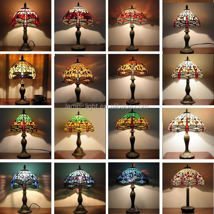 Tiffany lámpara de mesa para la decoración del hogar de tiffany ...