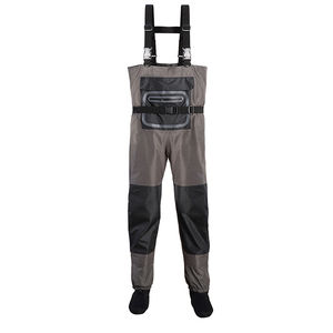 High Quality 3-ply Nylon Breathable Fabric Mens Breathable Wader Chest Fishing Wader