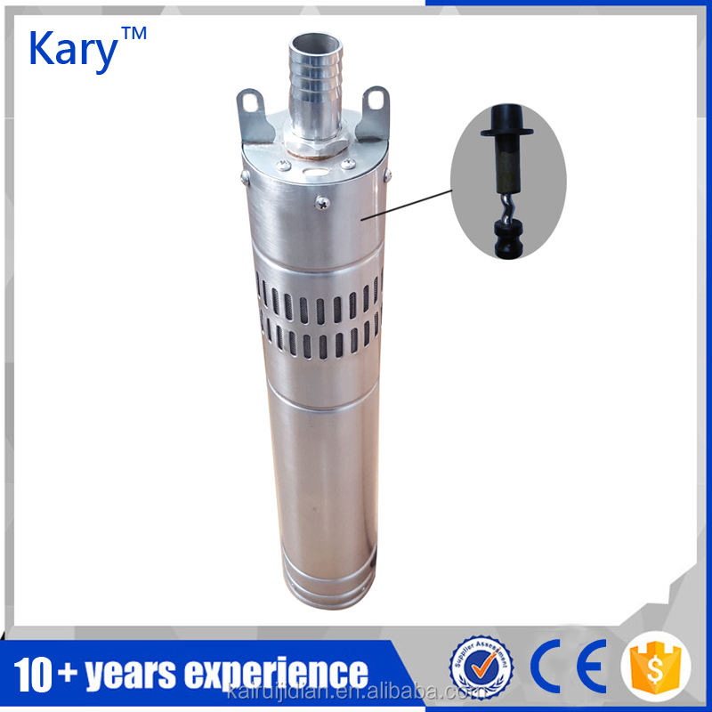 Kary 24v 40m lift 9GPM dc brushless submersible solar bore pump for deep well