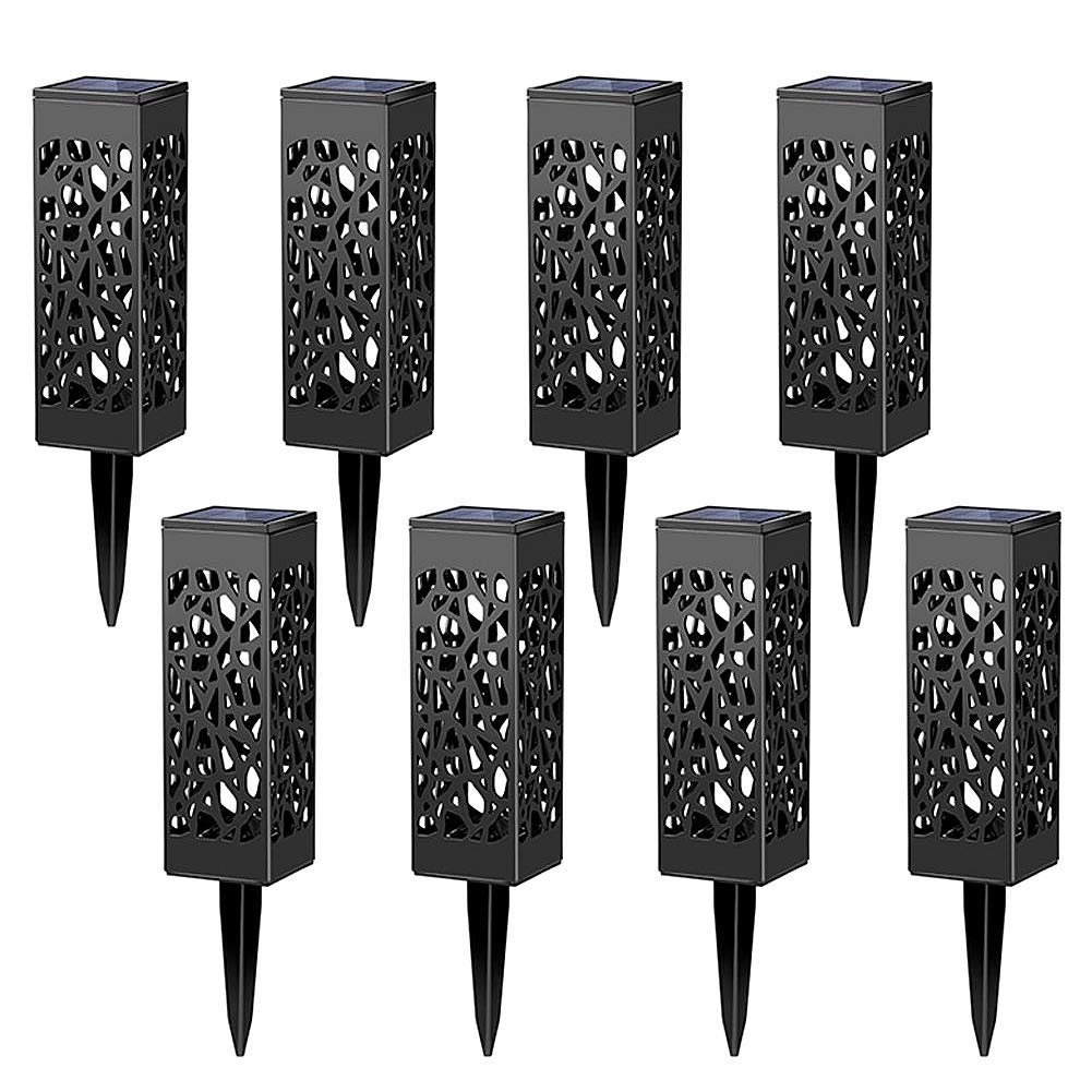 Laideyilan Solar Powered LED Garden Lights LED Solar Lawn Light Waterproof Landscape Garden Mesh Light,8 Pack