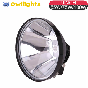 75w 100w 240mm Blitz Driving Spotlight,9inch 75w 100w hid off road driving light, high power 100w 75w hid xenon working lamp