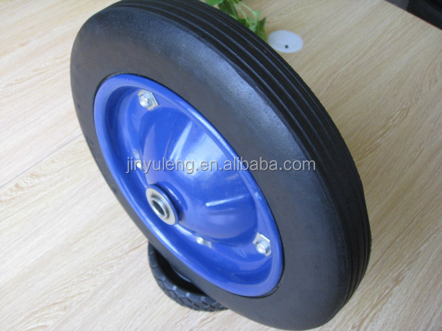 "13"", 6"" to 16"" solid rubber wheel, tires for wheel barrow, hand trolley, cart"
