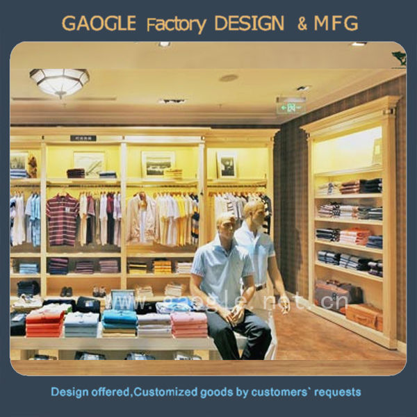2fc5378c2 Elegant Style Clothing Store Display Design For Men's Clothes - Buy ...