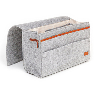 Custom Felt Bedside Caddy bag sofa armrest organizer for bed organizer