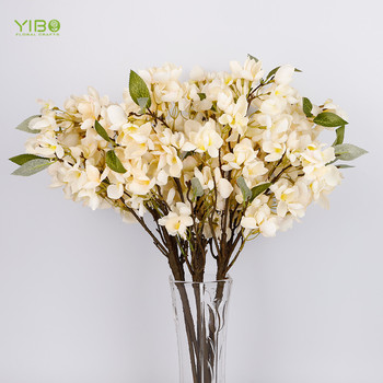 Natural Looking White Fabric Natural Touch Artificial Bell Orchid Flower