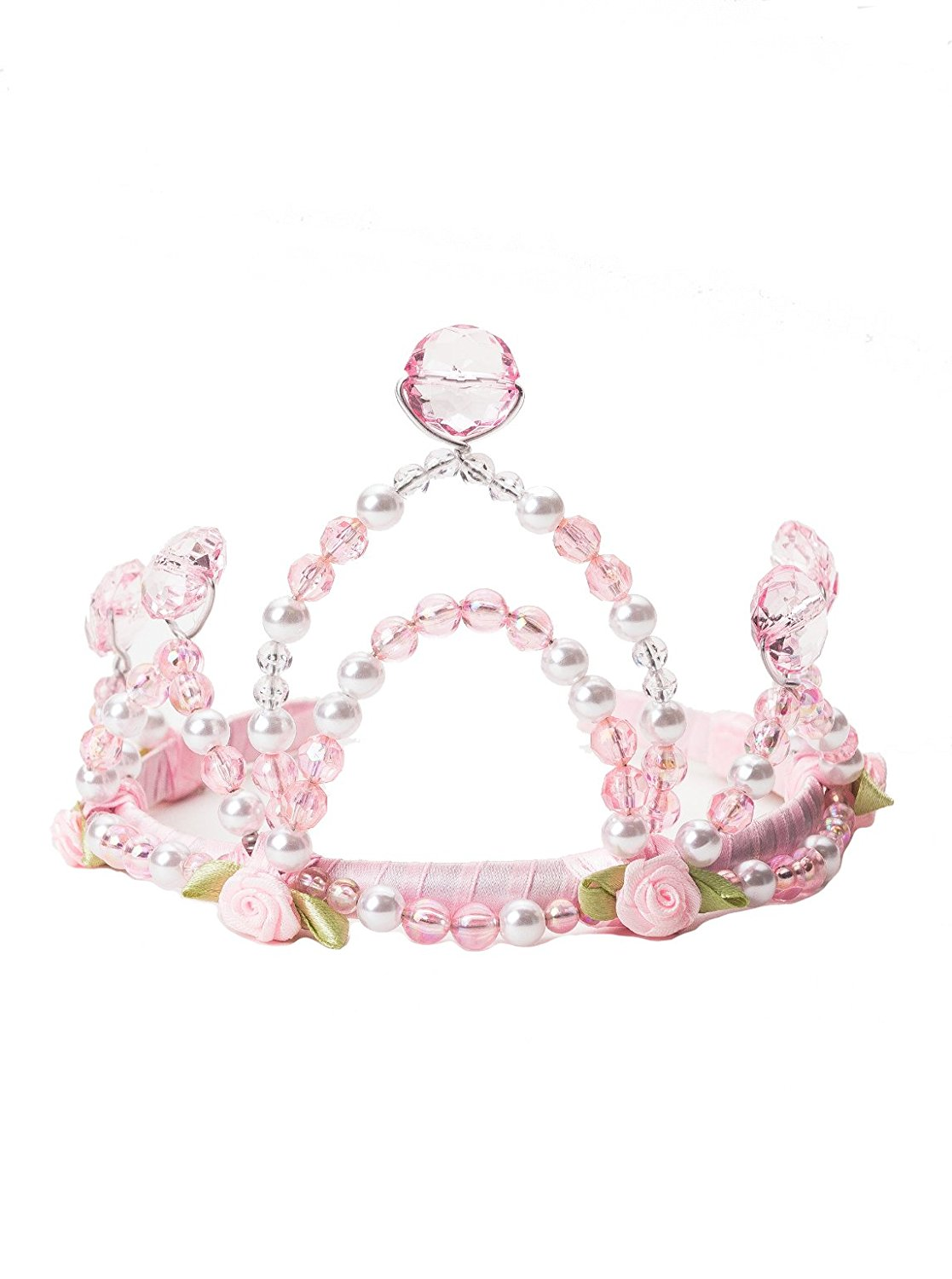 Little Adventures Deluxe Princess Crown and Wand Set for Girls - One Size (3+ Yrs)