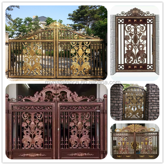 Yishujia Factory Outdoor Decorative Main Aluminum Gate Designs ...