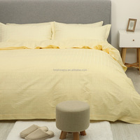direct factory full size 300TC hotel bed linen canary pure cheap cotton sheet