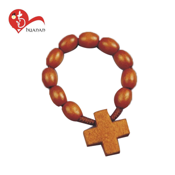 More than 20 years experience Huanan factory wooden beads christian rosary bracelet