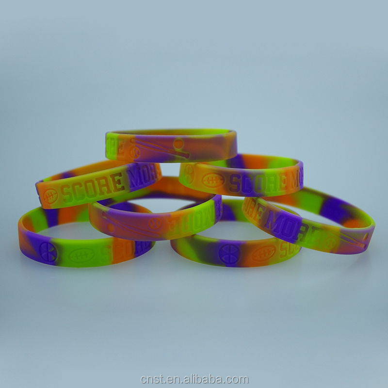 Mix color silicone bracelet,band silicone,silicone arm band for adult and children