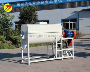 Professional design best horizontal animal feed mixer machine of grain  powder, View mixer machine, Double Crane Product Details from Shandong  Double