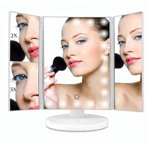 The latest fashion trifolding mirror tabletop cosmetic mirror factory direct selling cosmetics Led cosmetic mirror