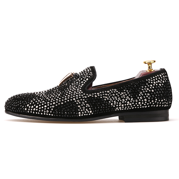 Shoes and Diamond Tassel Men Metal with Party Luxury RwPTaqW