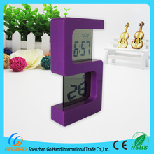 Fashion small transparent lcd creative clock