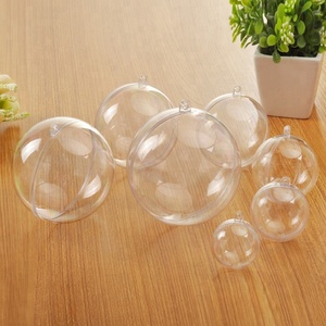 Openable hollow Hanging clear transparent Xmas Christmas Ornaments Plastic Ball 4CM-40CM