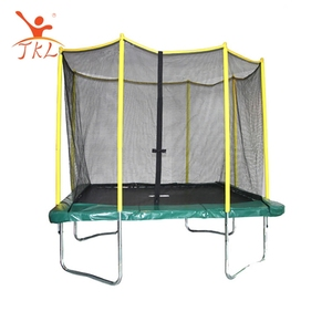 High bounce 3m x 2.3m rectangle trampoline outdoor with safety enclosure net