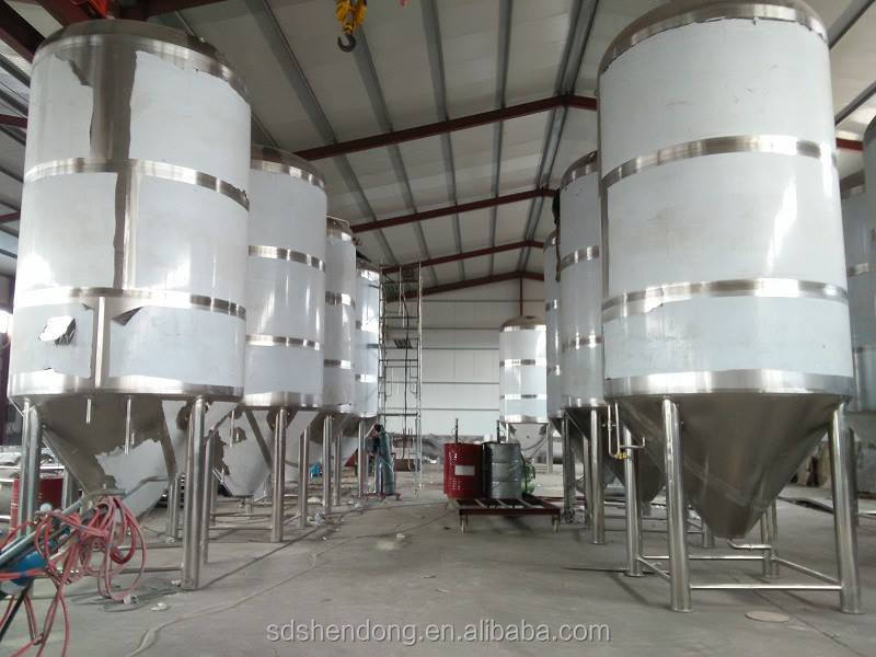 Shandong Shendong 10000L stainless steel beer fermenter/stainless steel conical beer fermenter for sale