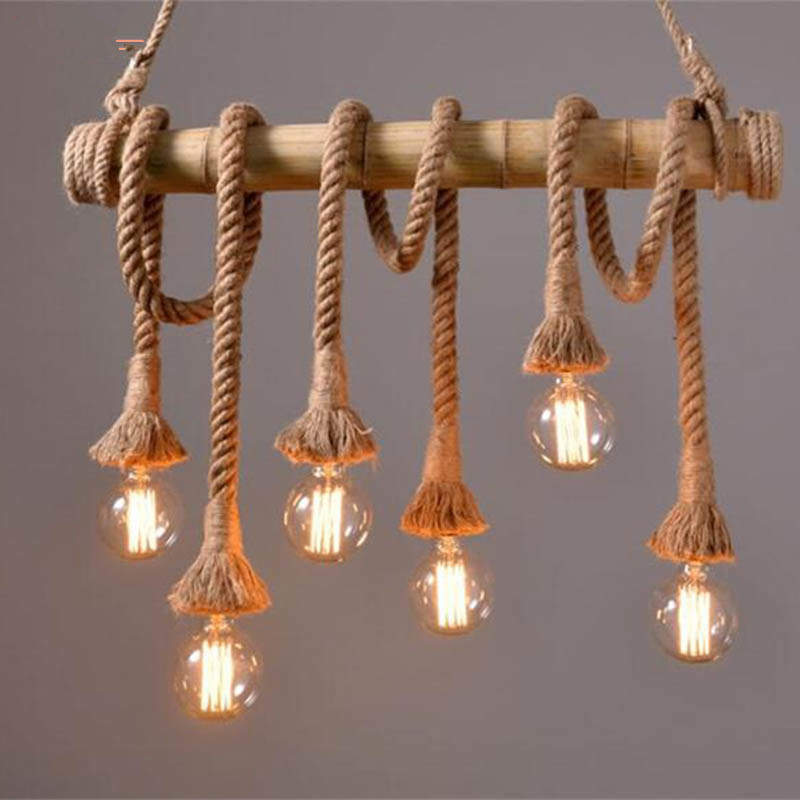 Aliexpress.com : Buy Vintage Rope Bamboo Pendant Lights