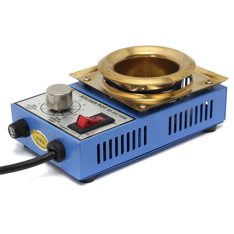 Newest Solder Pot Soldering Desoldering Bath Titanium Plate 50mm 220V 150W 200-450 Celsius Electric Soldering Irons