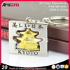 High end metal nickel zinc alloyed keychain in house shaped
