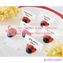 "Resin ""Cute as a Bug"" Ladybug Place Card/Photo Holder Favors For Wedding Bridal Decoration Favors"
