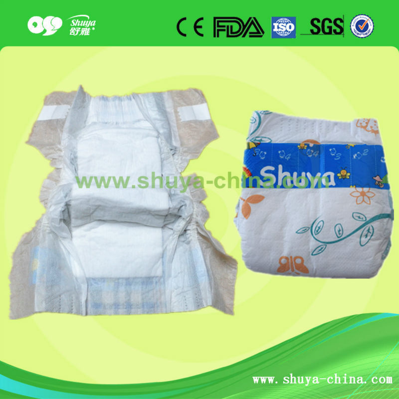 Natural Material Absorptive Sleepy Baby Diaper for Baby